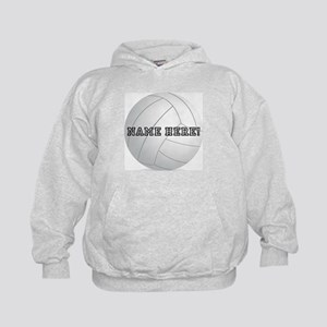 Personalized Volleyball Player Kids Hoodie