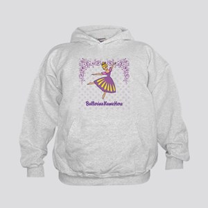 Personalize Your Purple Ballerina! Kids Hoodie