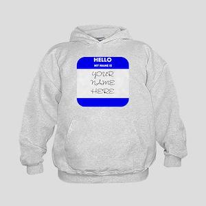 Custom Blue Name Tag Hoody