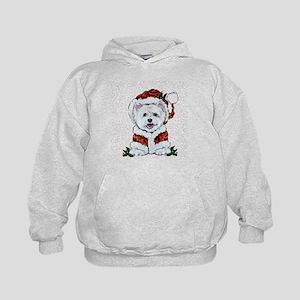 Santas Westie Helper Hoodie