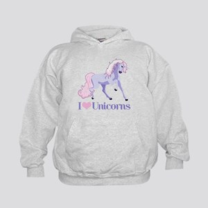 I Heart Unicorns Kids Hoodie