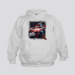 Captain America with Shield Kids Hoodie