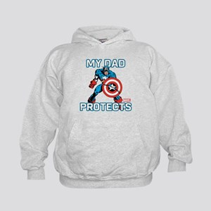 My Dad Protects:Captain America Kids Hoodie