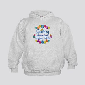 Quilting Happy Place Kids Hoodie