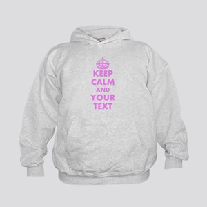 Pink keep calm and carry on Hoodie