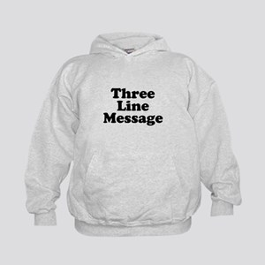 Big Three Line Message Hoodie