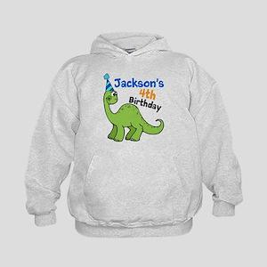 Dinosaur Birthday Kids Hoodie