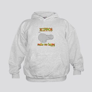 Hippos Make Me Happy Kids Hoodie