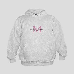 Personalized pink monogram Hoodie