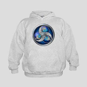 Blue Norse Triple Dragons Kids Hoodie