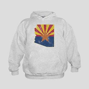 Vintage Arizona State Outline Flag Kids Hoodie