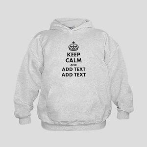 Personalized Keep Calm Kids Hoodie