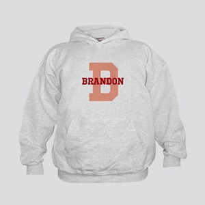 CUSTOM Initial and Name Red Kids Hoodie