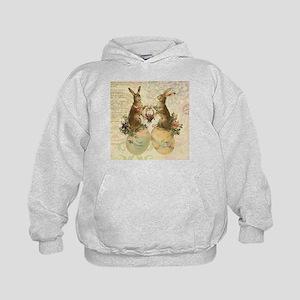 Vintage French Easter bunnies Hoodie
