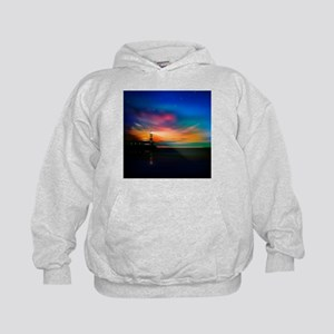 Sunrise Over The Sea And Lighthouse Hoodie