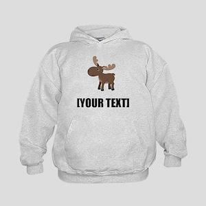Cartoon Moose Personalize It! Hoodie