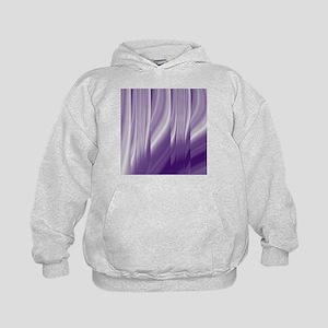 abstract purple grey Kids Hoodie