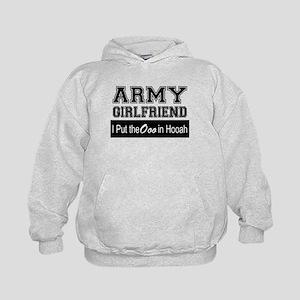 Army Girlfriend Ooo in Hooah_Black Kids Hoodie