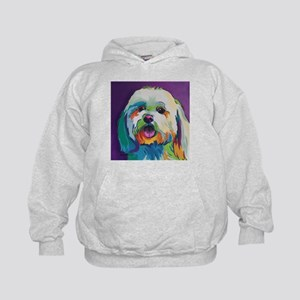 Dash the Pop Art Dog Kids Hoodie
