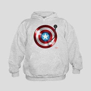 Captain America Vinyl Shield Kids Hoodie