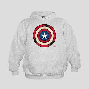 Captain America Comic Shield Kids Hoodie