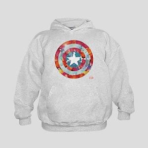 Captain America Tie-Dye Shield Kids Hoodie