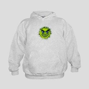 Green Spiky Monster Kids Hoodie