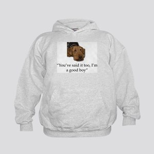 Sulking Airedale Terrier Giving Cute E Kids Hoodie