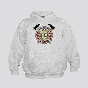 Maltese Cross with American Flag backg Kids Hoodie