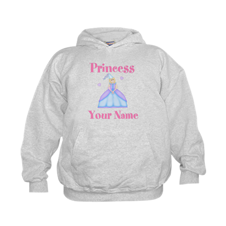 Blond Princess Personalized Kids Hoodie