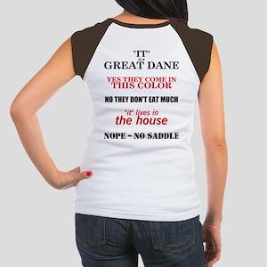 Great Dane Walking bk prnt Women's Cap Sleeve T-Sh