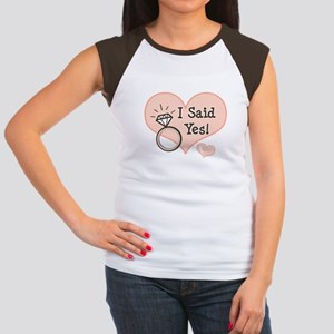 I Said Yes Bride To Be Women's Cap Sleeve T-Shirt