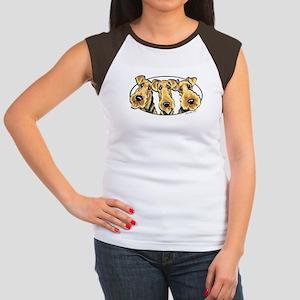 Airedale Terrier Lover Women's Cap Sleeve T-Shirt