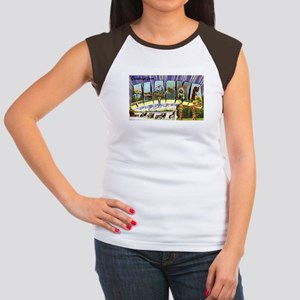 Alaska Greetings (Front) Women's Cap Sleeve T-Shir