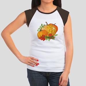 Fall Pumpkins Women's Cap Sleeve T-Shirt