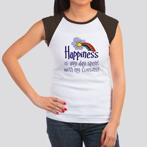 HAPPINESS IS DAY W/ MY COUSINS Women's Cap Sleeve