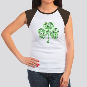 St Paddys Day Shamrock Women's Cap Sleeve T-Shirt
