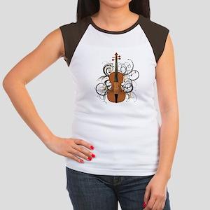 Violin Women's Cap Sleeve T-Shirt