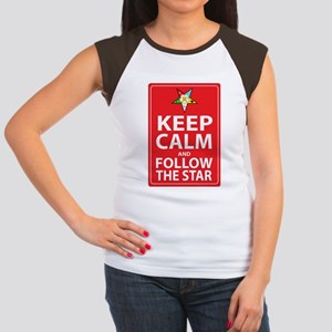 Keep Calm Follow the Star Women's Cap Sleeve T-Shi