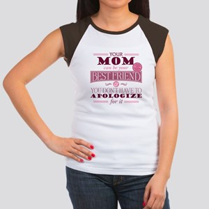Mom Can Be Best Friend Women's Cap Sleeve T-Shirt
