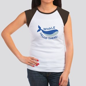 Whale Hello There! Women's Cap Sleeve T-Shirt