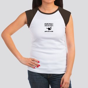 589d46f05 Funny Skydiving Women's Cap Sleeve T-Shirts - CafePress