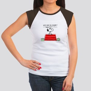 Crabby Snoopy Women's Cap Sleeve T-Shirt