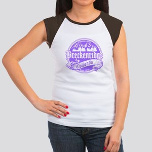 Breckenridge Old Violet Women's Cap Sleeve T-Shirt