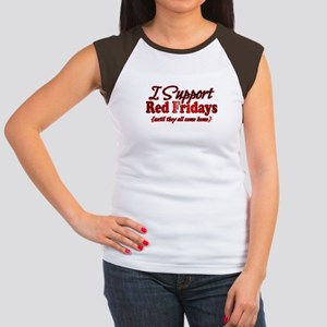 I support Red Fridays Women's Cap Sleeve T-Shirt
