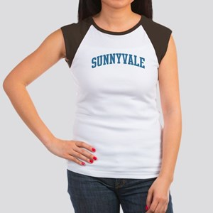 Sunnyvale (blue) Women's Cap Sleeve T-Shirt