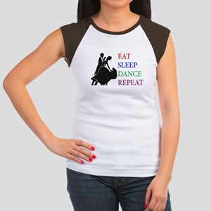 Eat Sleep Dance Women's Cap Sleeve T-Shirt