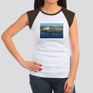 USS Coral Sea Image Women's Cap Sleeve T-Shirt