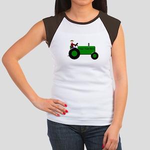 a0c9e474 Green Tractor Women's Cap Sleeve T-Shirts - CafePress