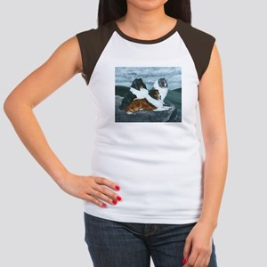 Shelties in the Mist Women's Cap Sleeve T-Shirt